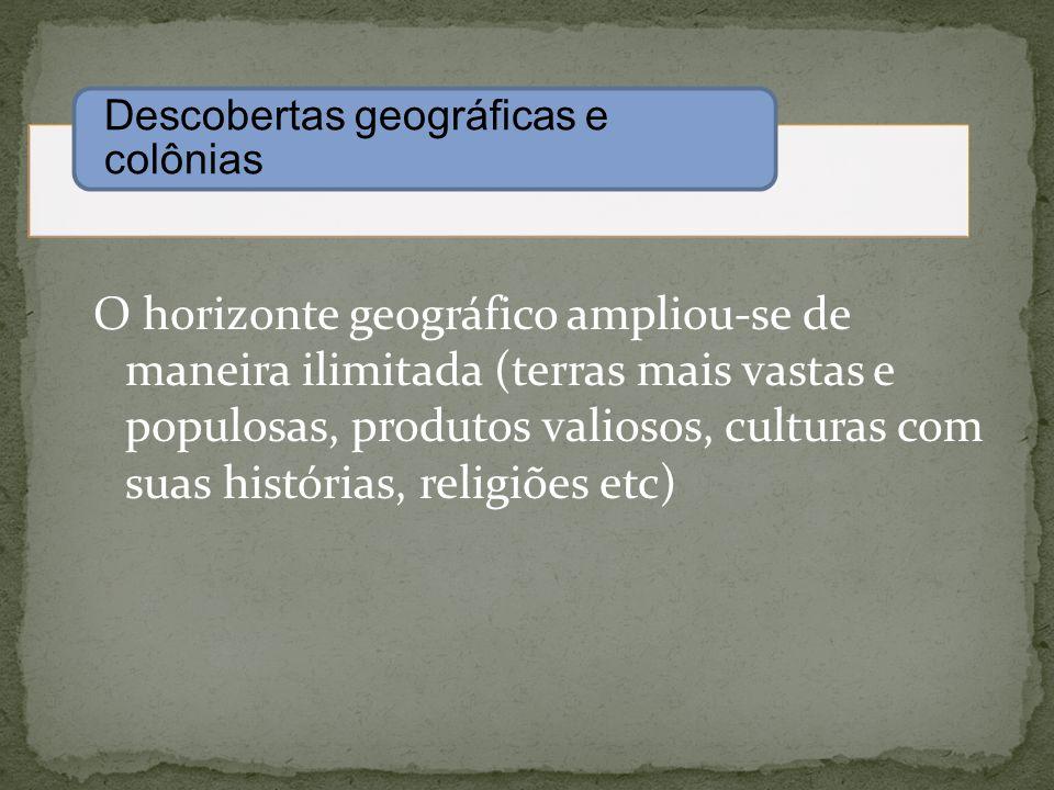 Descobertas geográficas e colônias