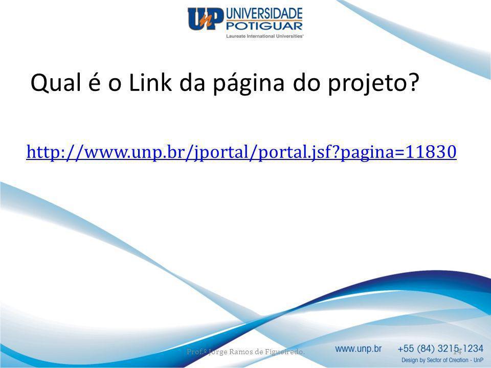 Qual é o Link da página do projeto