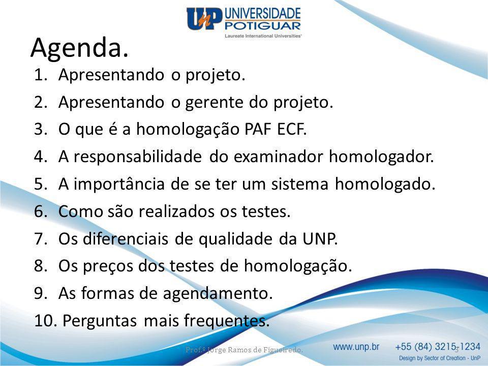 Prof.º Jorge Ramos de Figueiredo.
