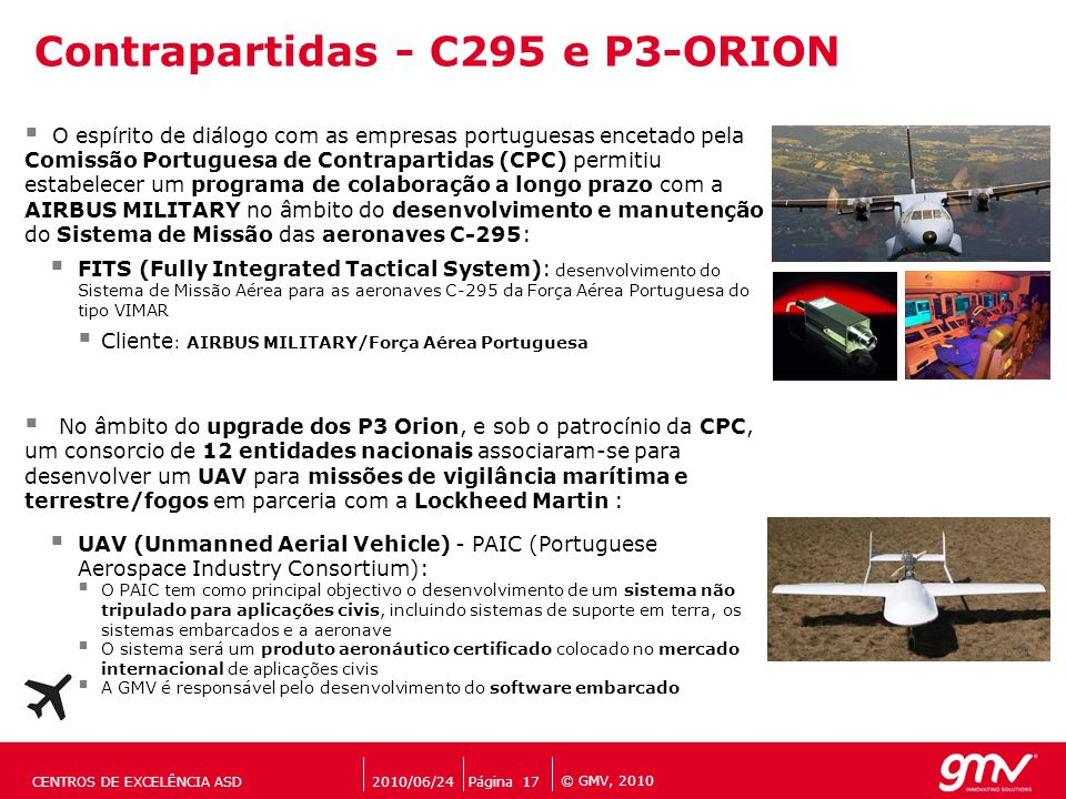Contrapartidas - C295 e P3-ORION