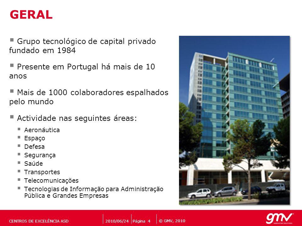 GERAL Grupo tecnológico de capital privado fundado em 1984