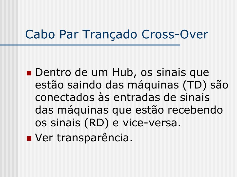 Cabo Par Trançado Cross-Over