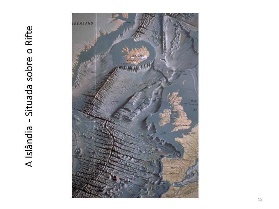 A Islândia - Situada sobre o Rifte