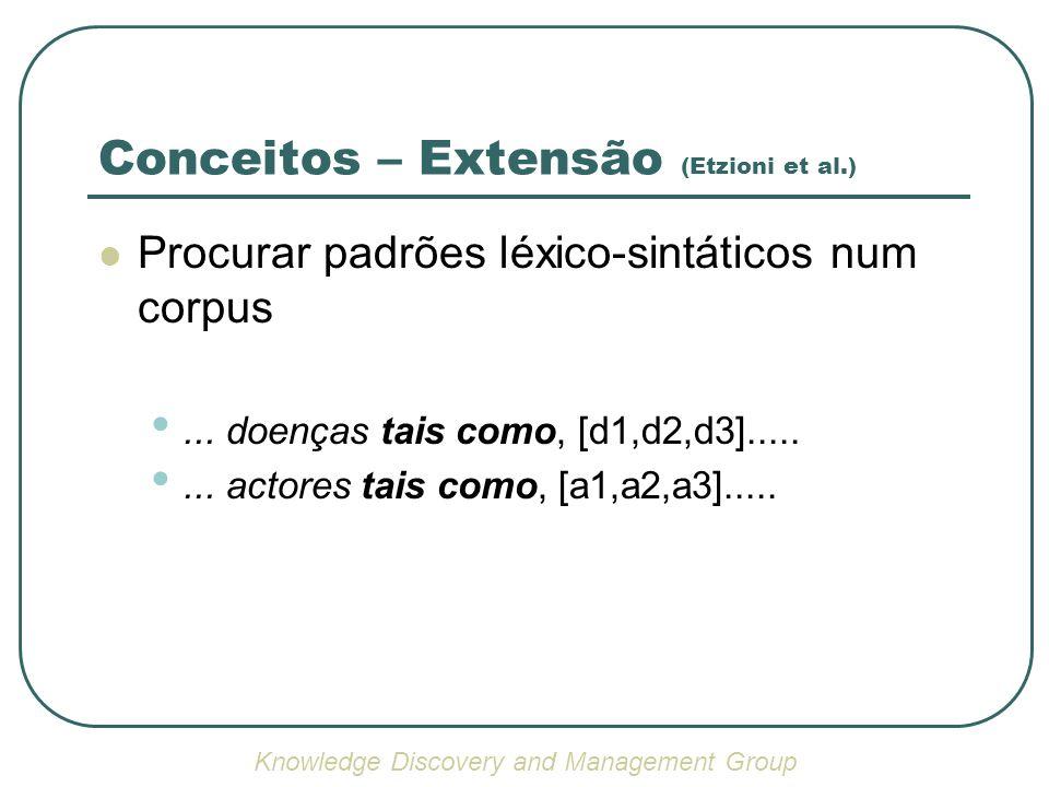 Conceitos – Extensão (Etzioni et al.)