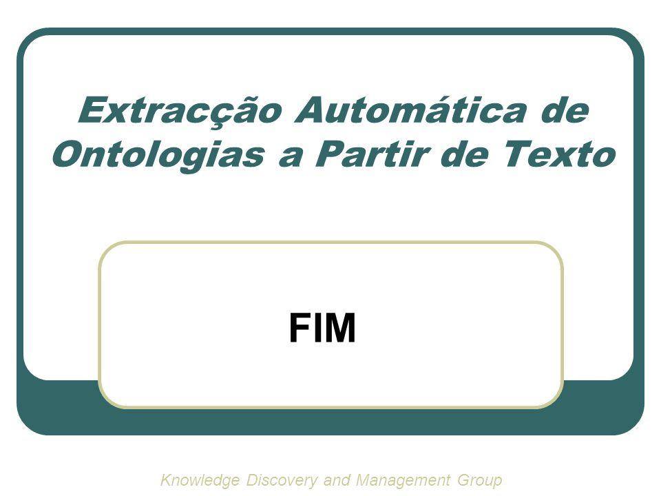 Extracção Automática de Ontologias a Partir de Texto