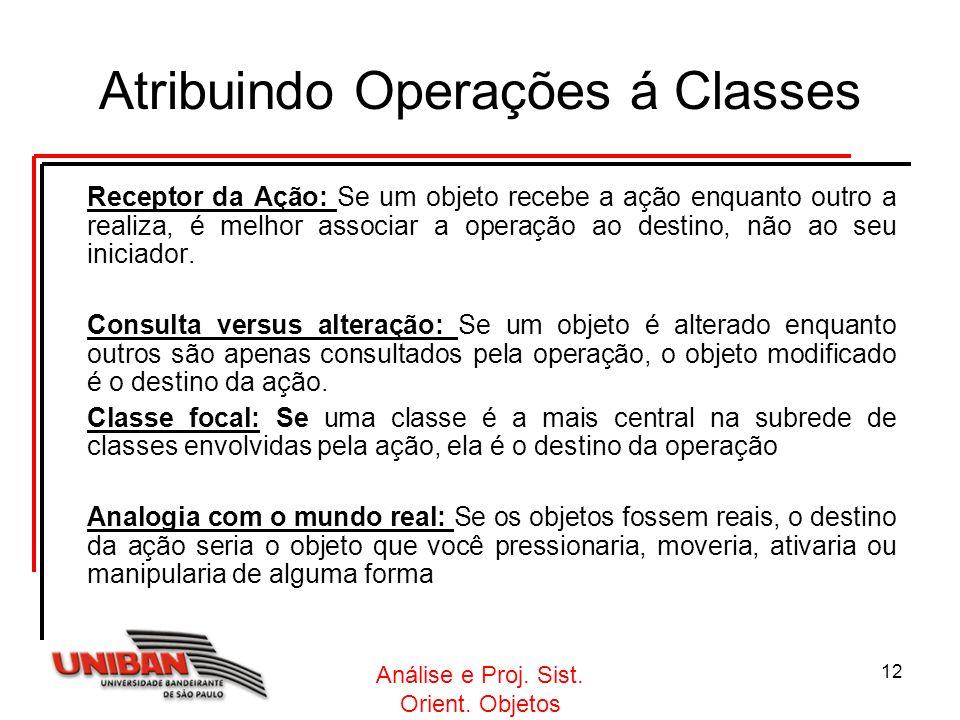 Atribuindo Operações á Classes