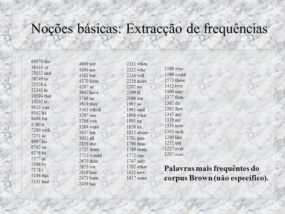Noções básicas: Extracção de frequências