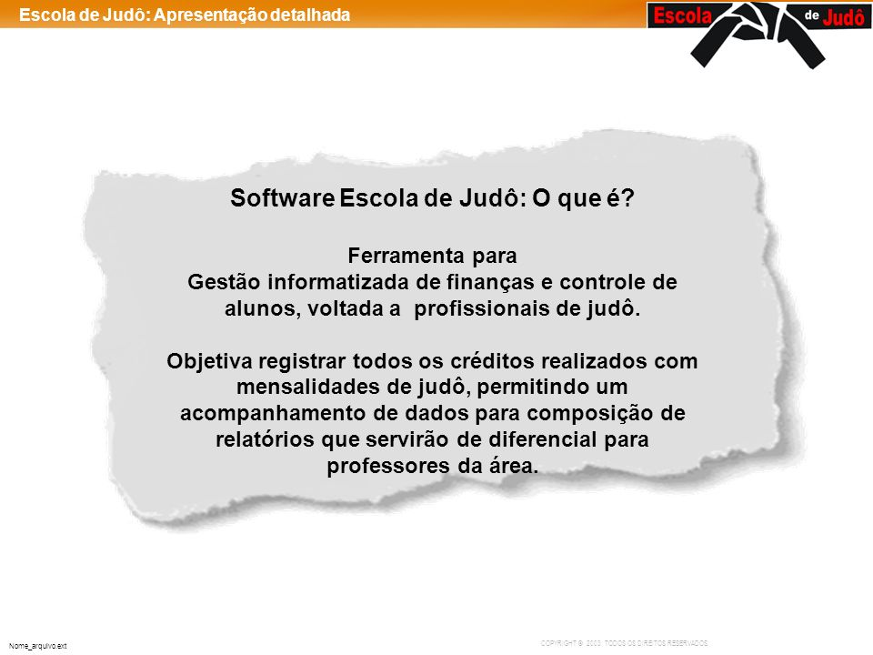 Software Escola de Judô: O que é