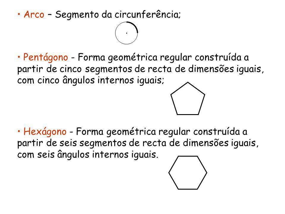 Arco – Segmento da circunferência;