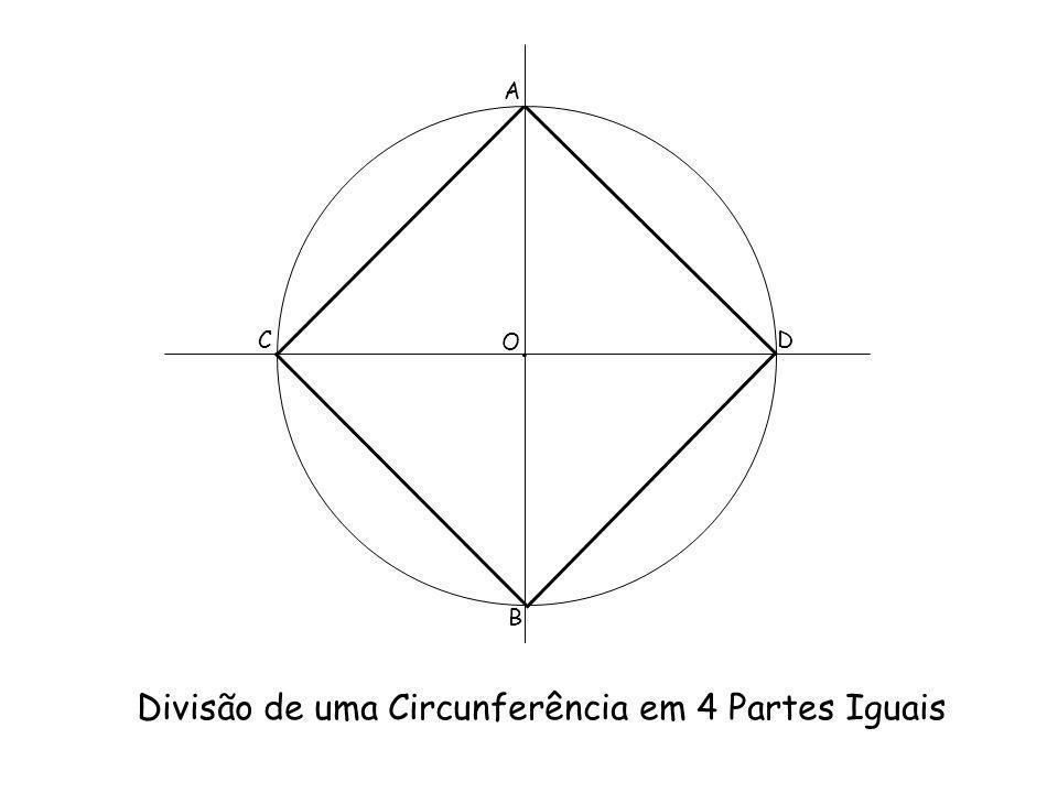 Divisão de uma Circunferência em 4 Partes Iguais