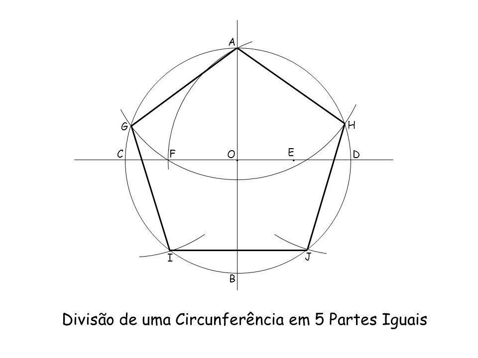 Divisão de uma Circunferência em 5 Partes Iguais