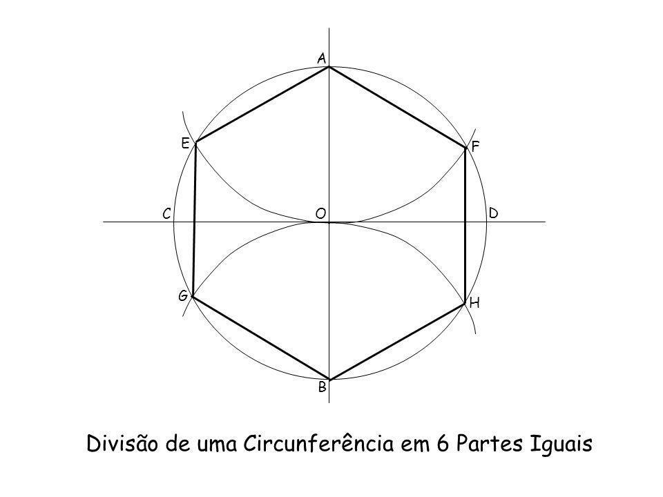 Divisão de uma Circunferência em 6 Partes Iguais