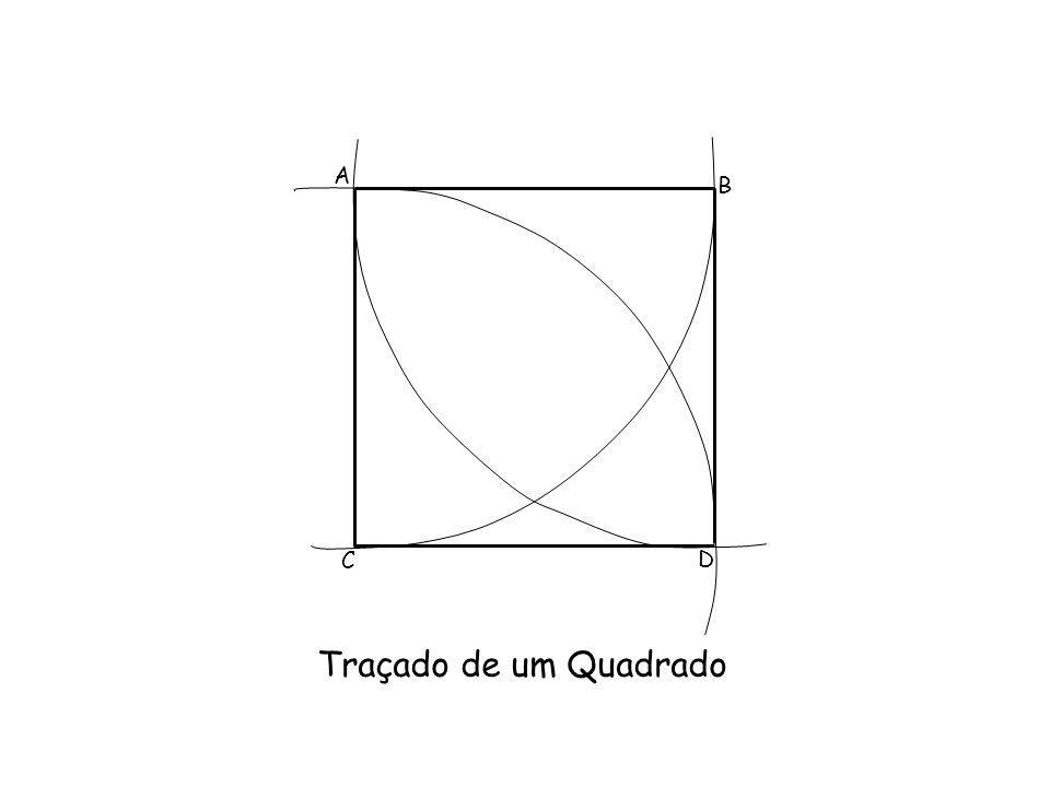 A B C D Traçado de um Quadrado