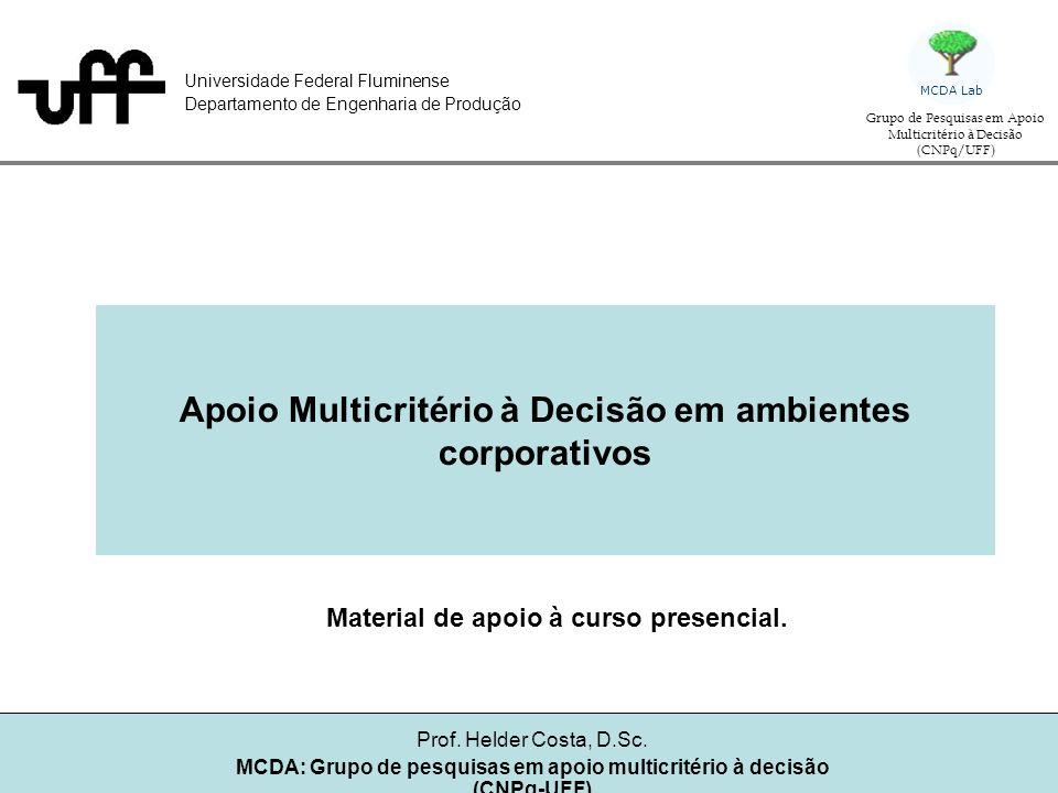 Apoio Multicritério à Decisão em ambientes corporativos