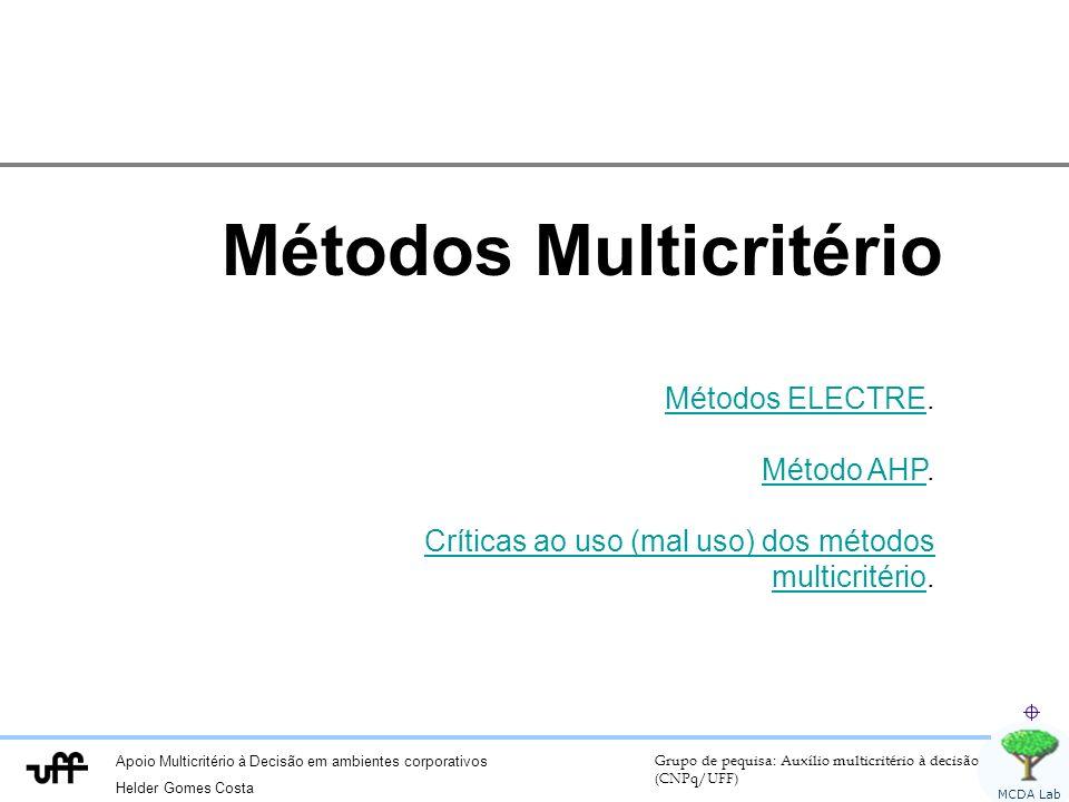 Métodos Multicritério