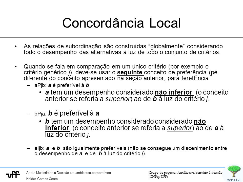 Concordância Local