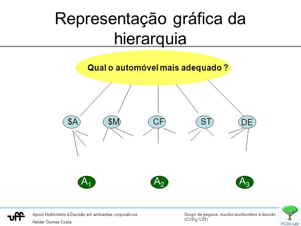 Representação gráfica da hierarquia
