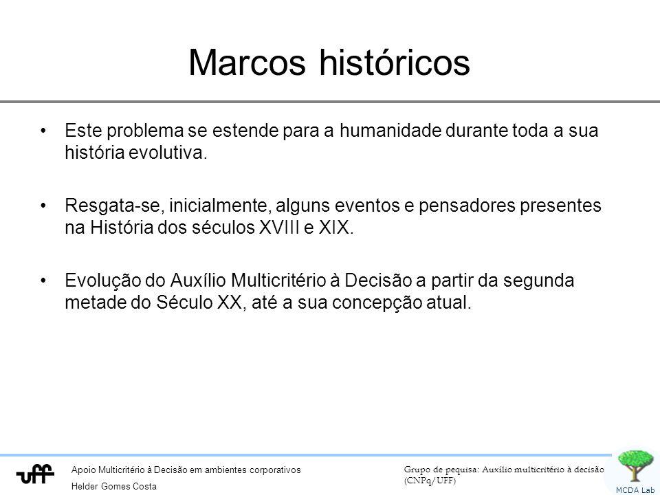 Marcos históricos Este problema se estende para a humanidade durante toda a sua história evolutiva.