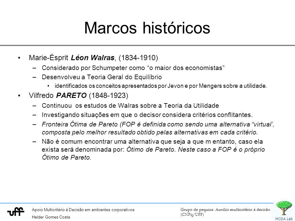 Marcos históricos Marie-Ésprit Léon Walras, (1834-1910)