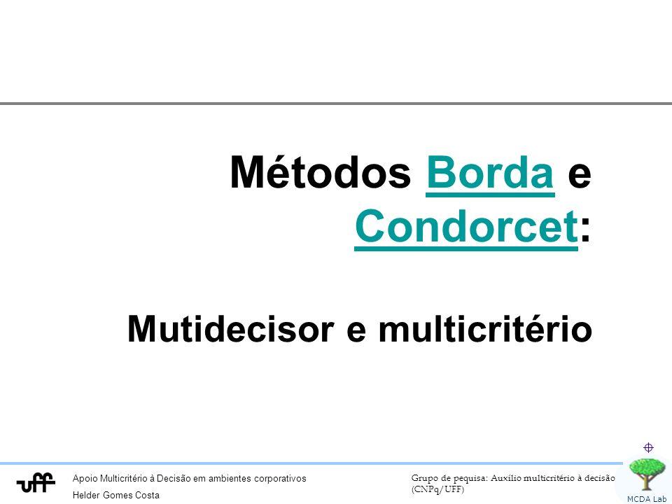 Métodos Borda e Condorcet:
