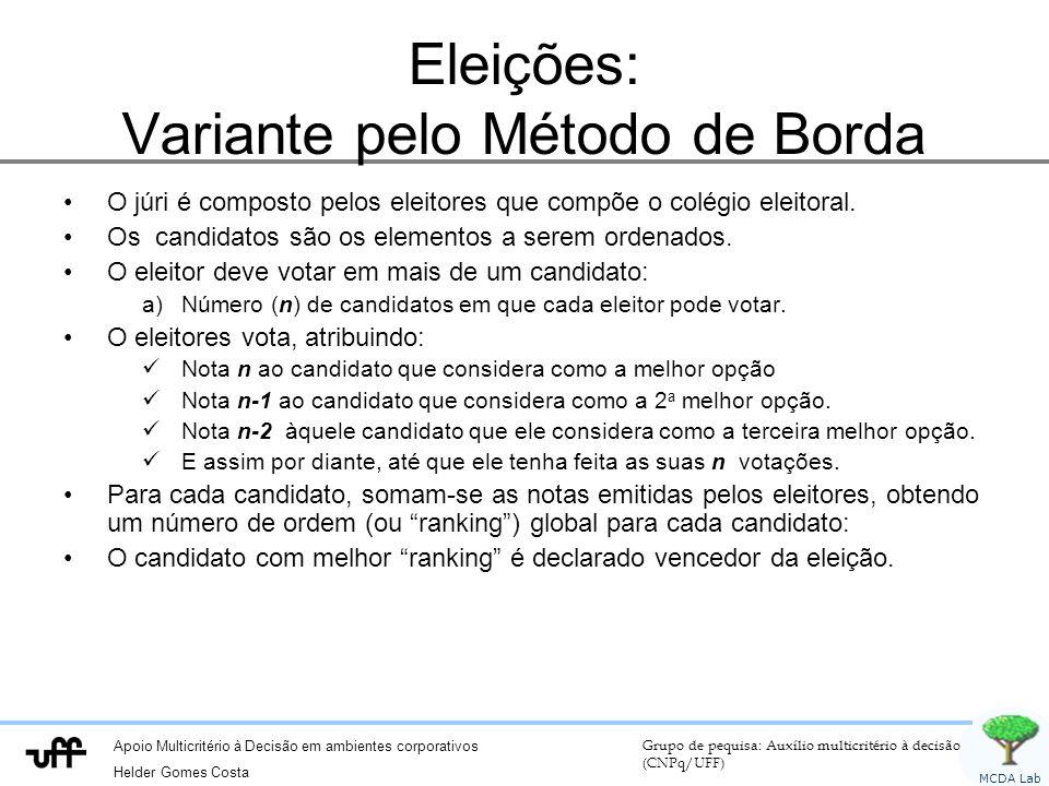 Eleições: Variante pelo Método de Borda