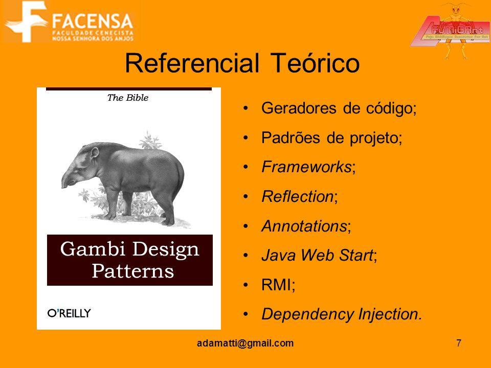 Referencial Teórico Geradores de código; Padrões de projeto;