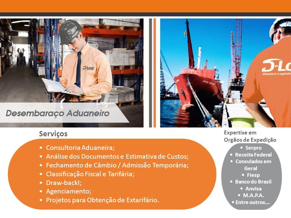 Serviços • Consultoria Aduaneira;