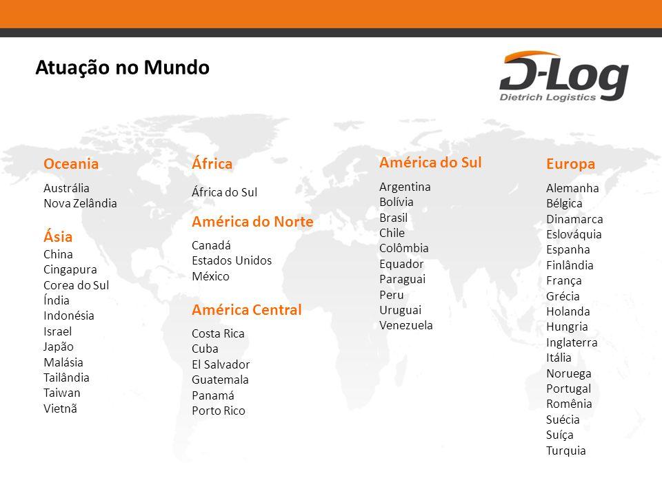 Atuação no Mundo Oceania Ásia África América do Norte América Central