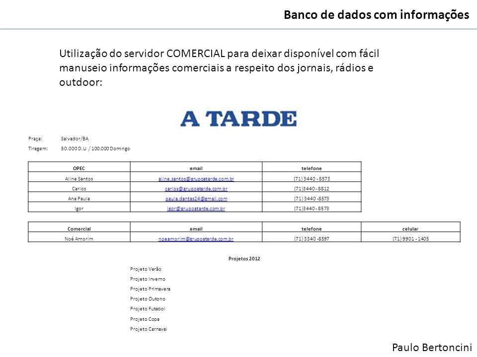 Banco de dados com informações