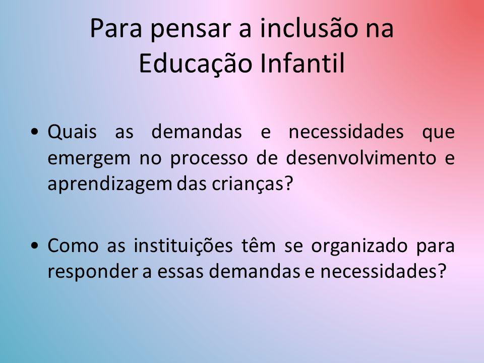 Para pensar a inclusão na Educação Infantil
