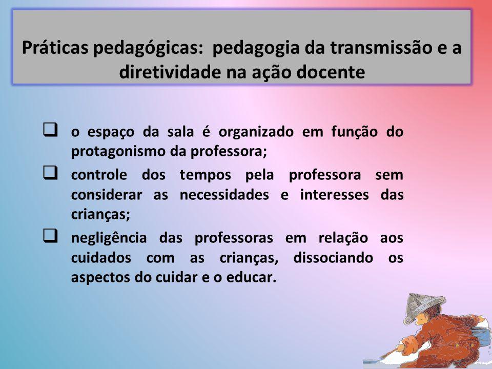 Práticas pedagógicas: pedagogia da transmissão e a diretividade na ação docente