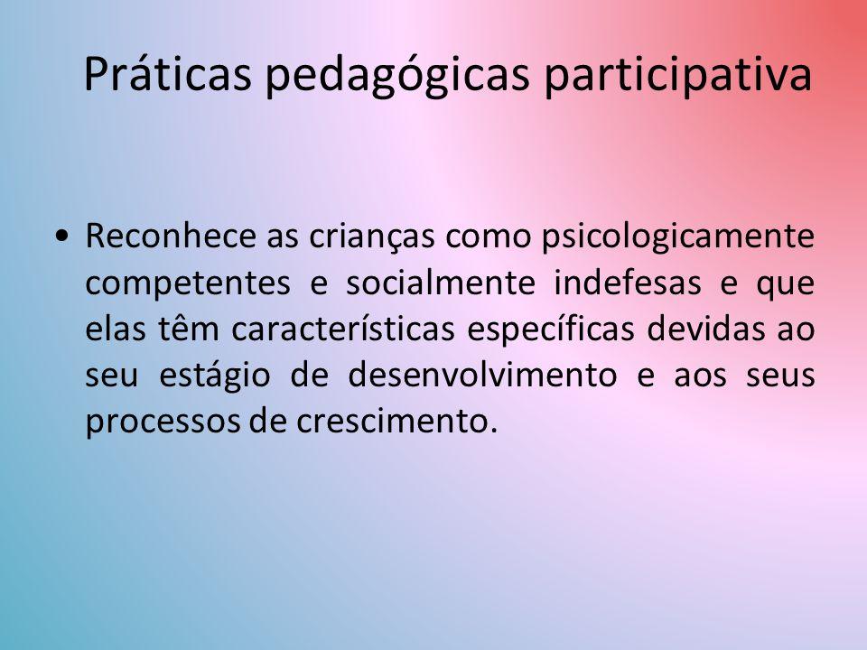 Práticas pedagógicas participativa