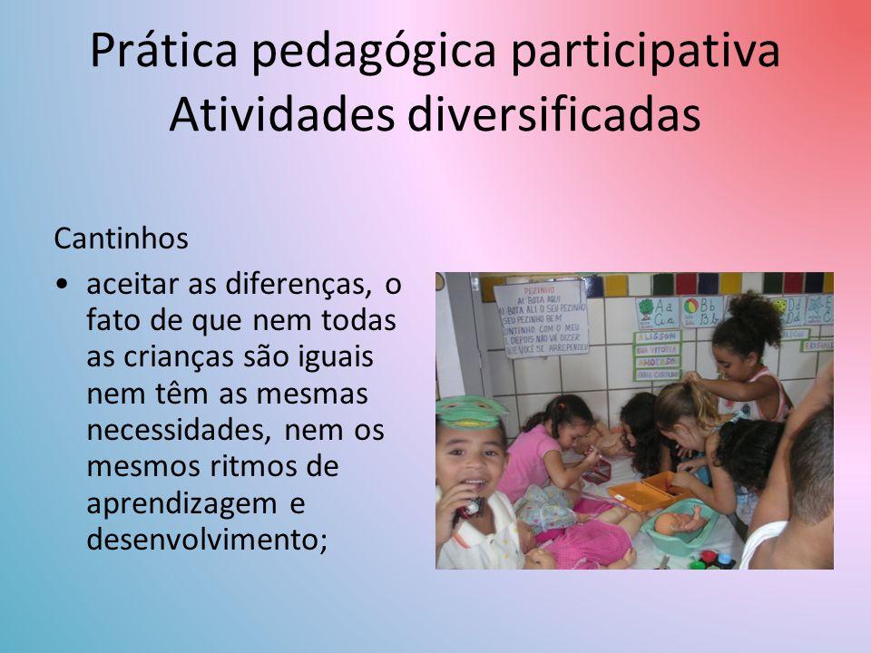 Prática pedagógica participativa Atividades diversificadas