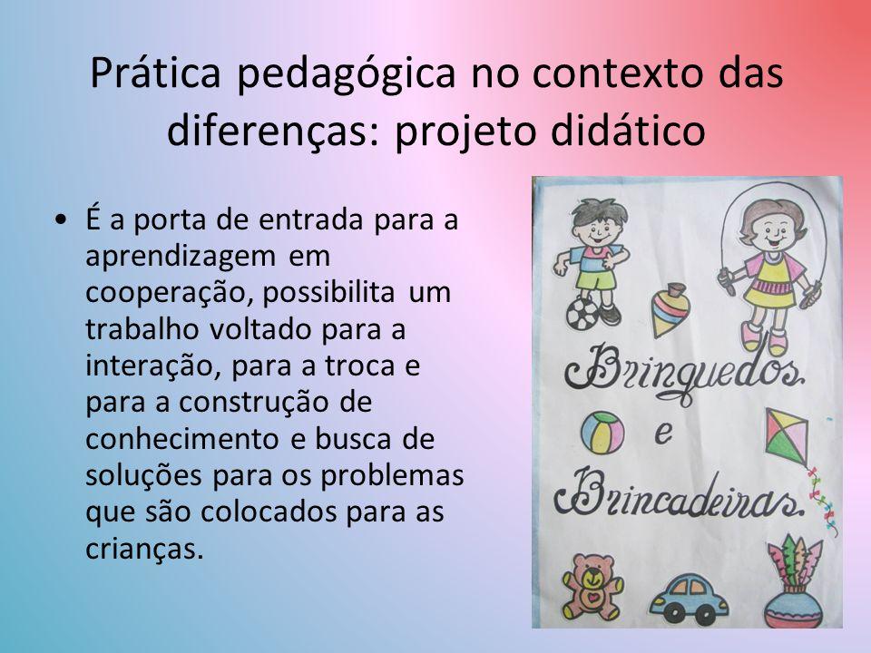 Prática pedagógica no contexto das diferenças: projeto didático