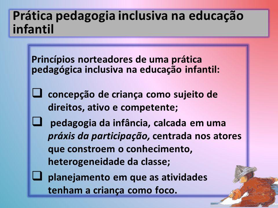 Prática pedagogia inclusiva na educação infantil