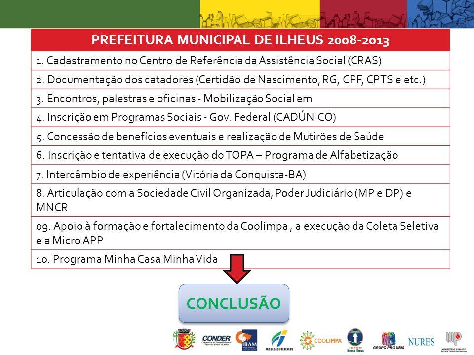 PREFEITURA MUNICIPAL DE ILHEUS 2008-2013