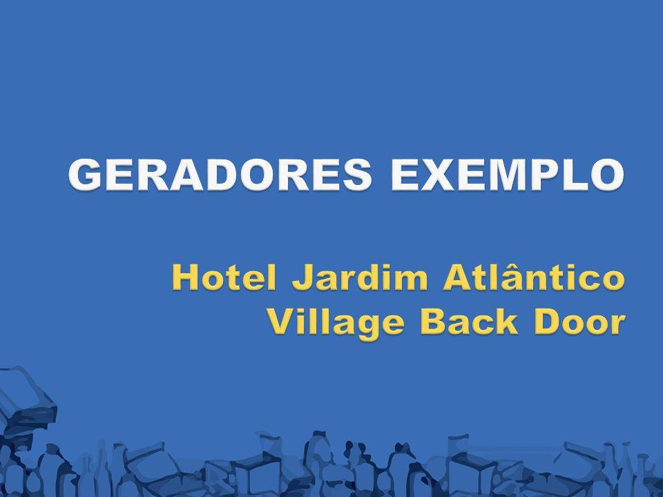 GERADORES EXEMPLO Hotel Jardim Atlântico Village Back Door