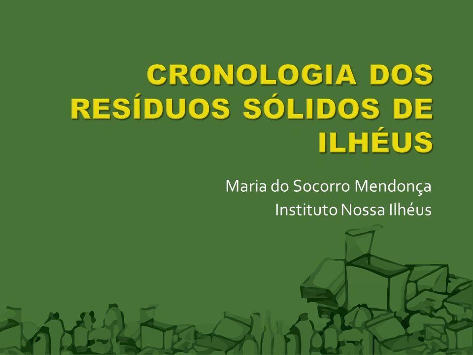 CRONOLOGIA DOS RESÍDUOS SÓLIDOS DE ILHÉUS