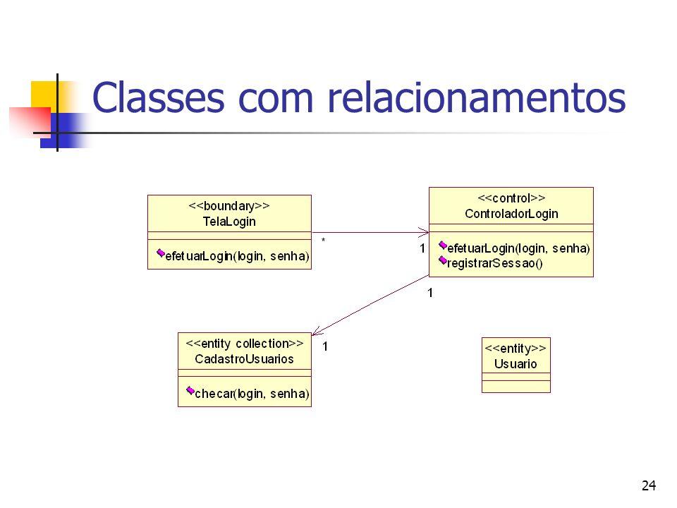 Classes com relacionamentos
