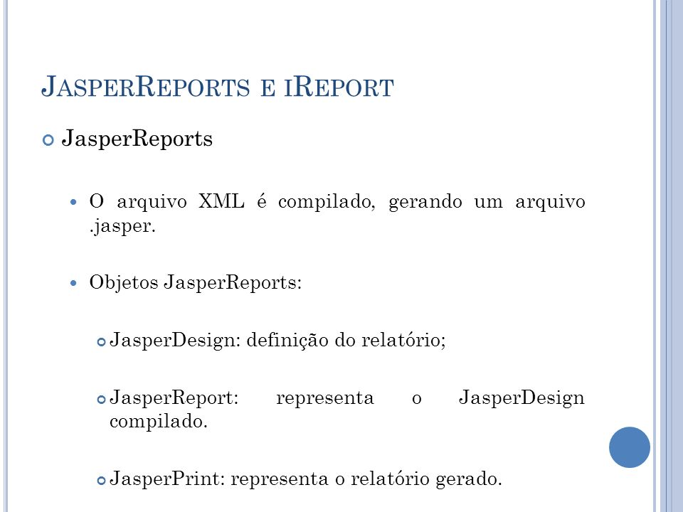 JasperReports e iReport
