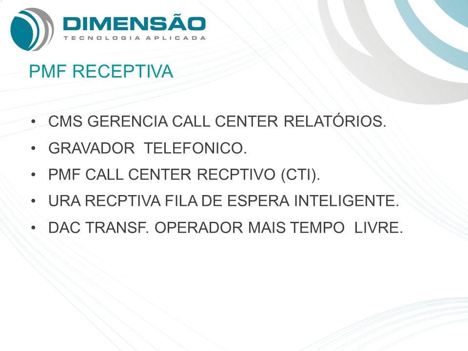 PMF RECEPTIVA CMS GERENCIA CALL CENTER RELATÓRIOS.