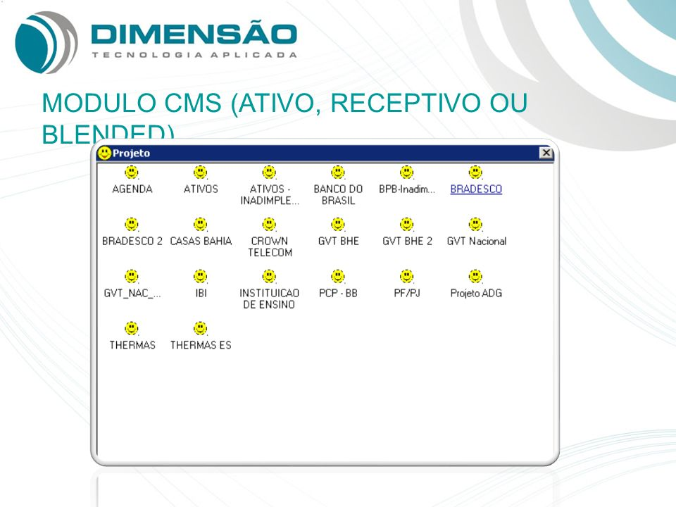 MODULO CMS (ATIVO, RECEPTIVO OU BLENDED)