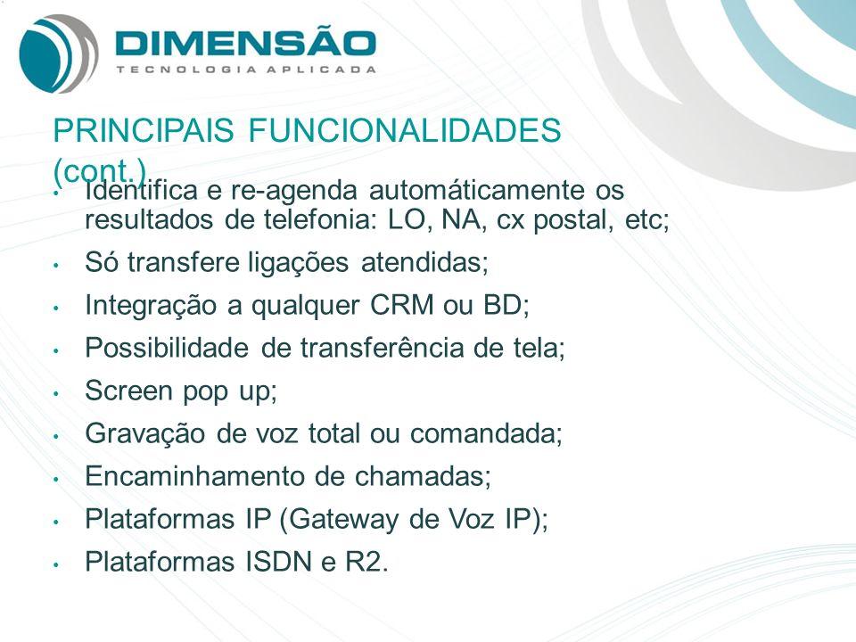 PRINCIPAIS FUNCIONALIDADES (cont.)