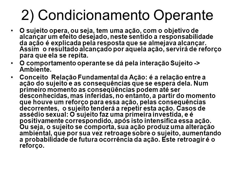2) Condicionamento Operante