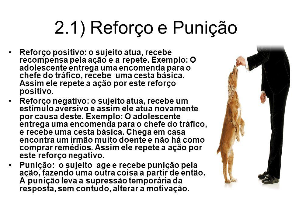 2.1) Reforço e Punição