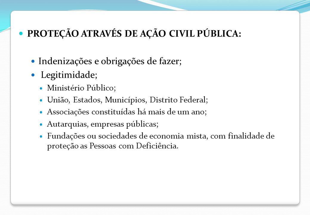 PROTEÇÃO ATRAVÉS DE AÇÃO CIVIL PÚBLICA: