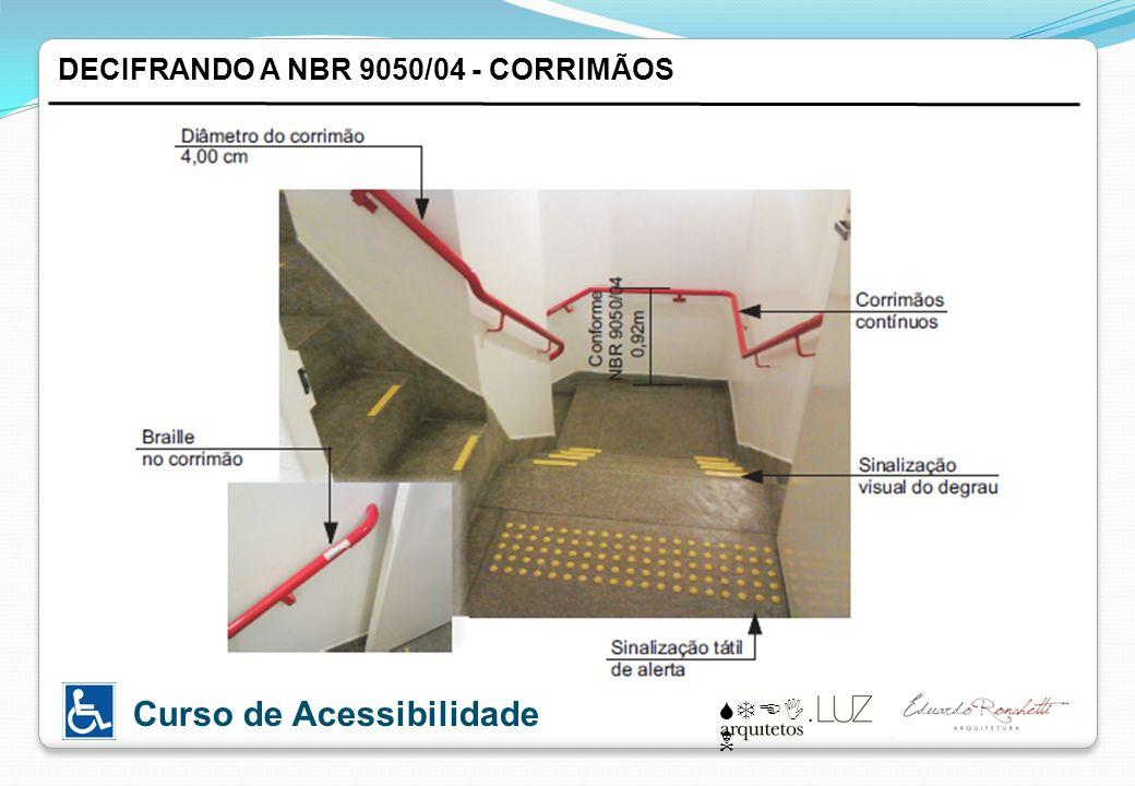 DECIFRANDO A NBR 9050/04 - CORRIMÃOS