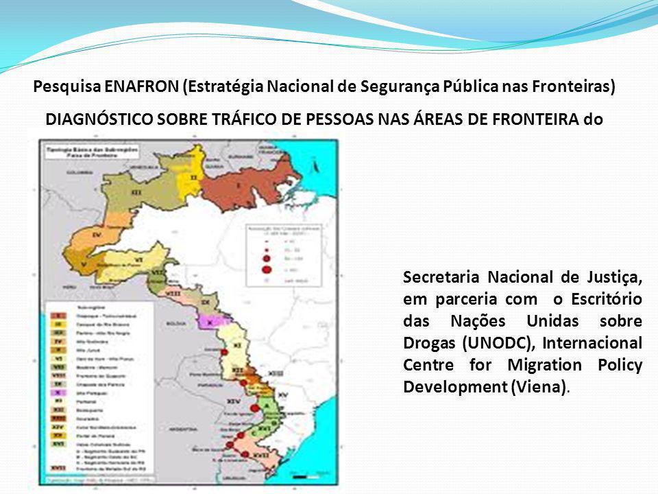 DIAGNÓSTICO SOBRE TRÁFICO DE PESSOAS NAS ÁREAS DE FRONTEIRA do Brasil