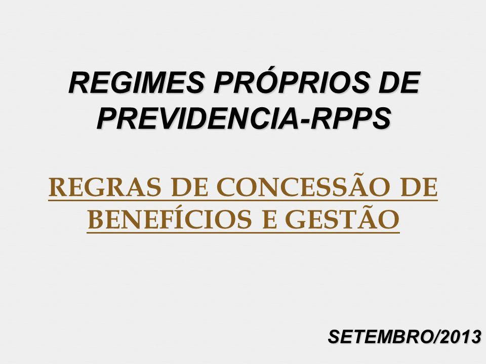 REGIMES PRÓPRIOS DE PREVIDENCIA-RPPS