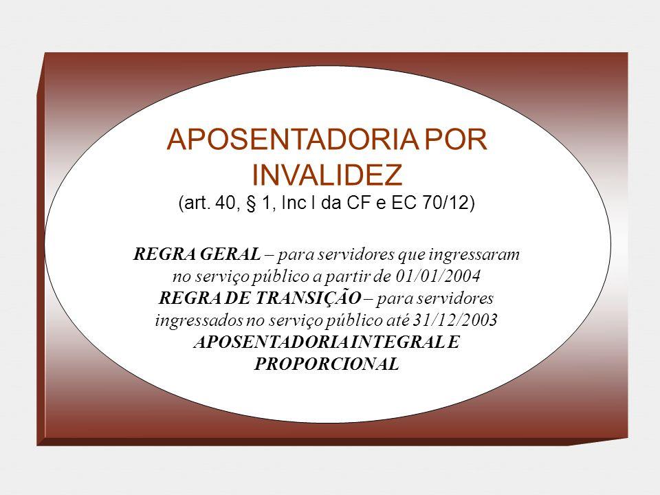 APOSENTADORIA INTEGRAL E PROPORCIONAL
